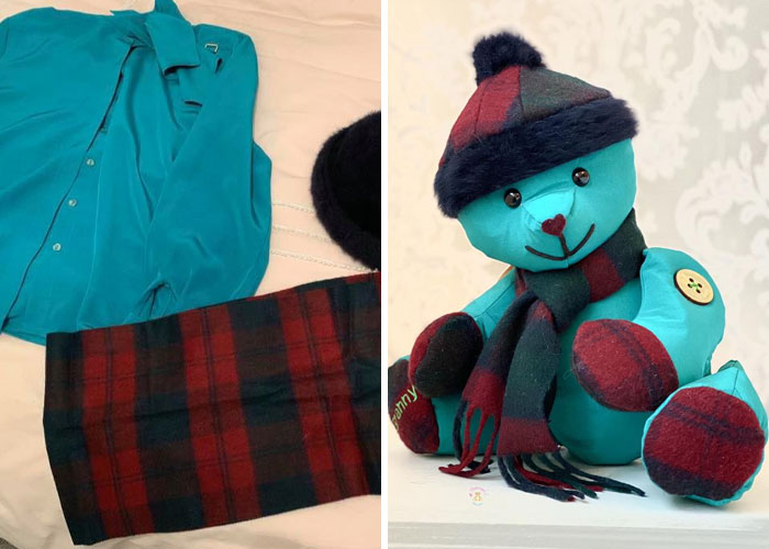 Button-down Shirt and Pants Turned into a Memory Bear