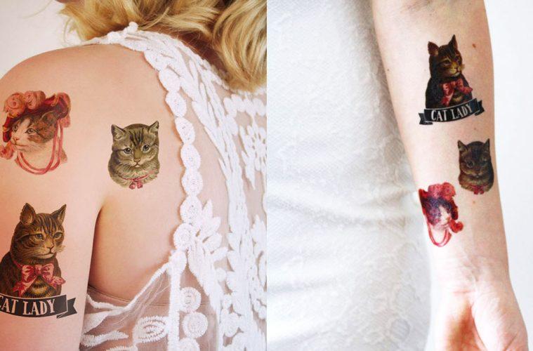 Cat Lady Tattoos