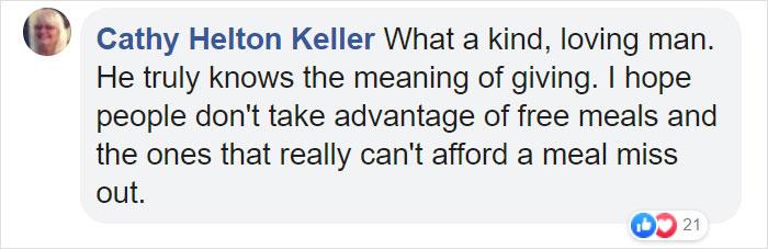 Cathy Helton Keller Facebook Comment