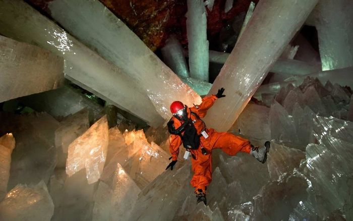 Cave in Mexico with Crystals