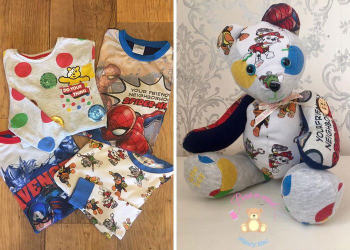 Child's Clothes Turned into a Memory Bear