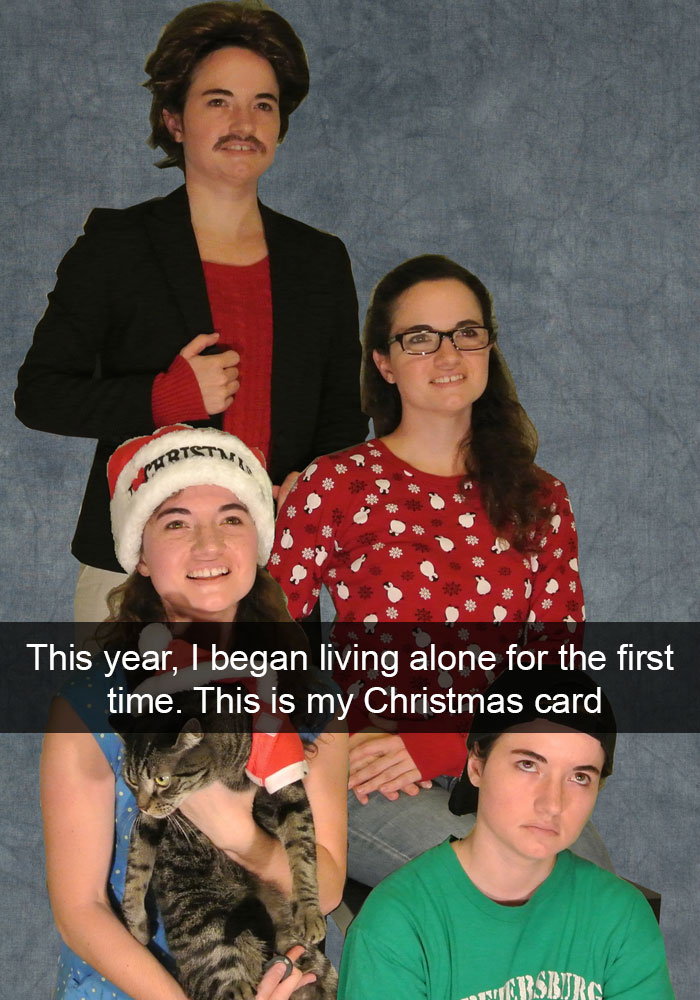 Christmas Card for Those Who Live Alone