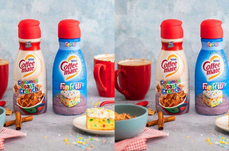 Coffee-mate Cinnamon Toast Crunch And Funfetti creamers