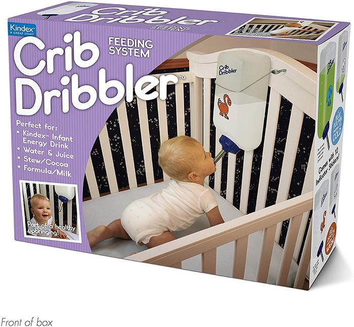 Crib Dribbler Prank Gift Box Front
