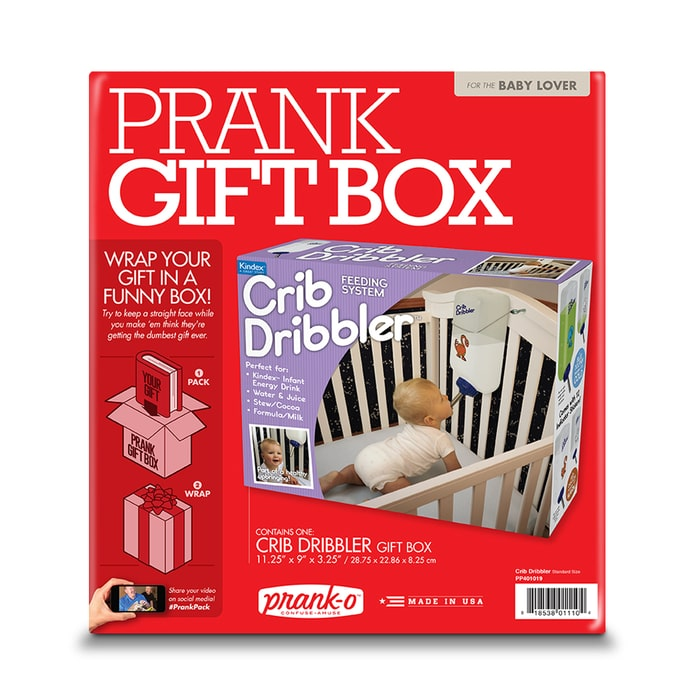 Crib Dribbler Prank Gift Box Packaging