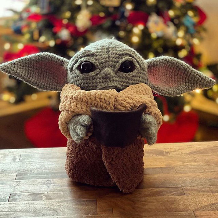 Crocheted Baby Yoda by Allison Hoffman