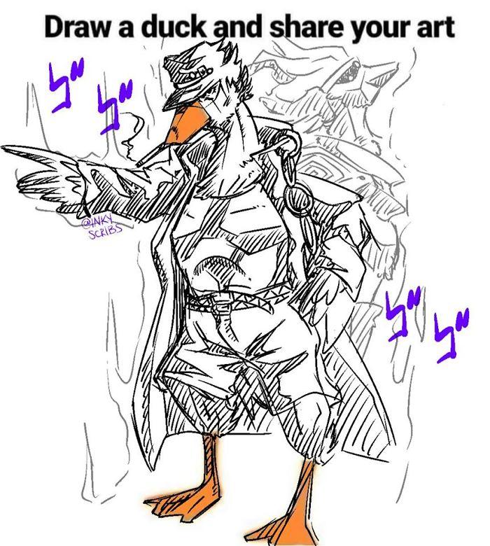 Duck in Jojo's Bizarre Adventure Costume