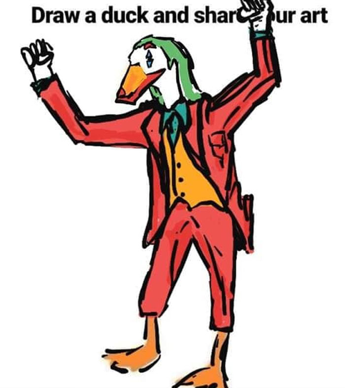 Duck in Joker Costume