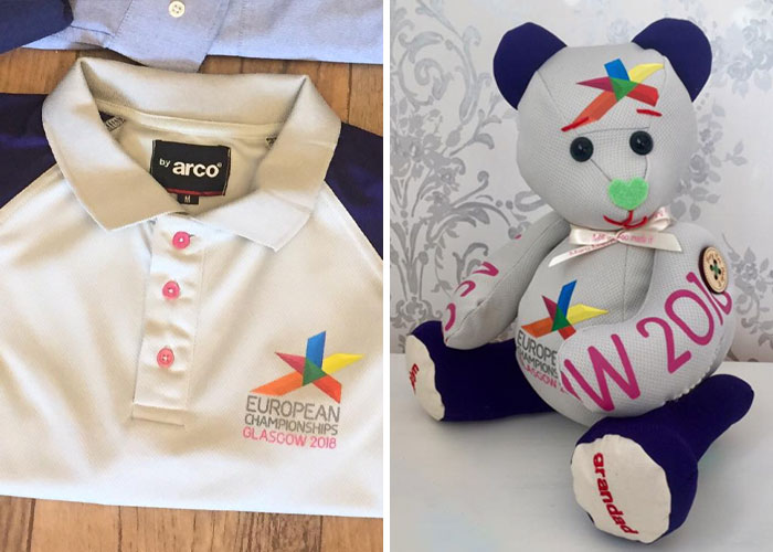 European Championships Uniform Turned into a Stuffed Teddy
