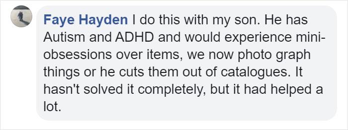 Faye Hayden Facebook Comment on Kristina Watts Christmas Mom Hack
