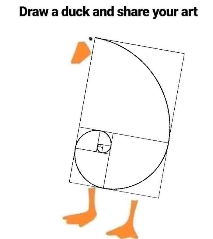 Fibonacci Duck Drawing