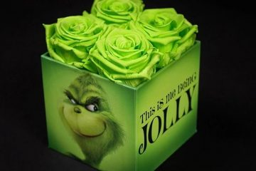 Grinch-Inspired Roses