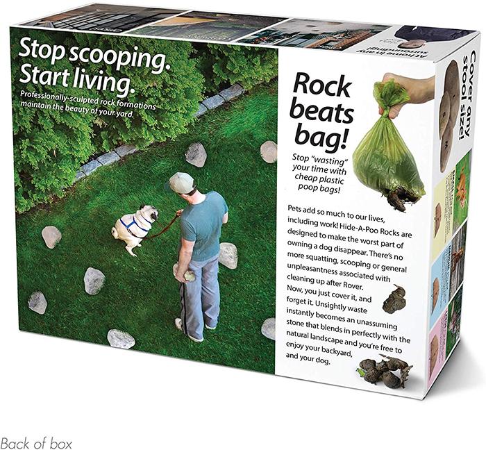 Hide-A-Poo Prank Gift Box Back