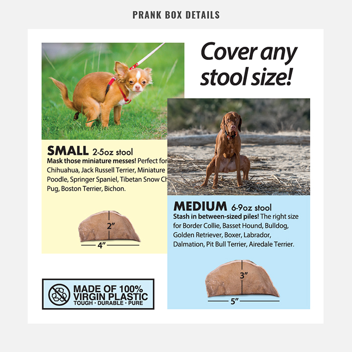 Hide-A-Poo Prank Gift Box Details Stool Size
