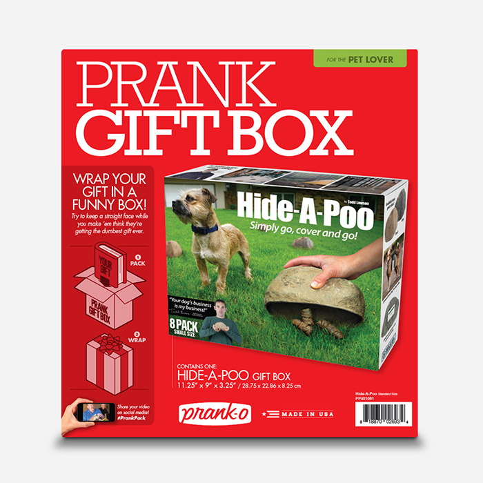 Hide-A-Poo Prank Gift Box Packaging