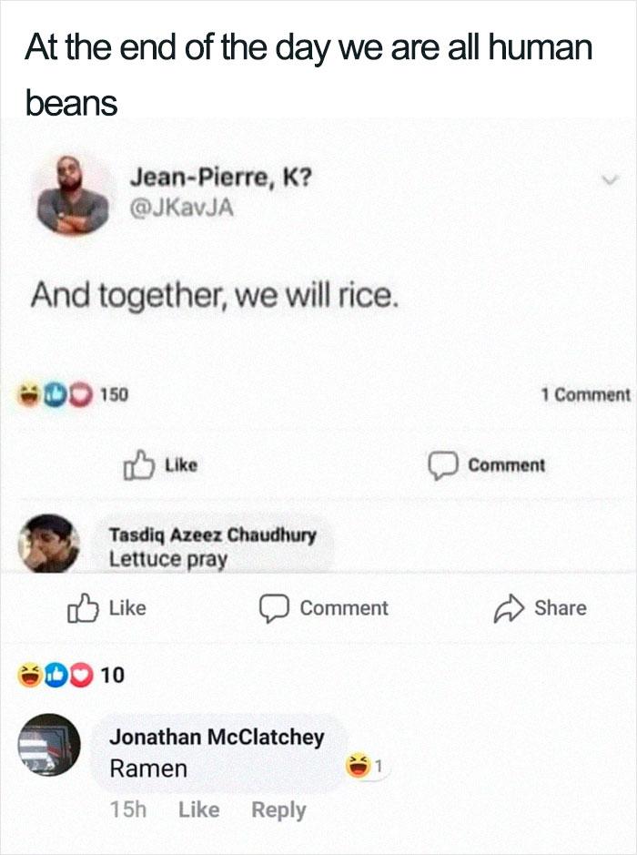 Hilarious Puns Beans Rice Lettuce