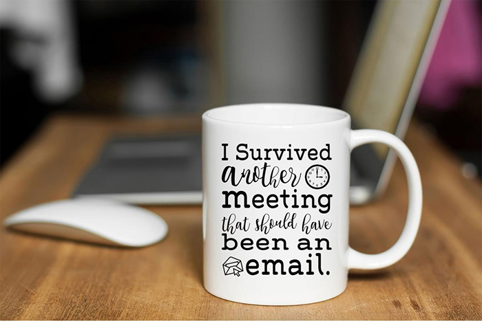 I Survived Another Meeting That Should Have Been an Email Coffee Mug with Icons