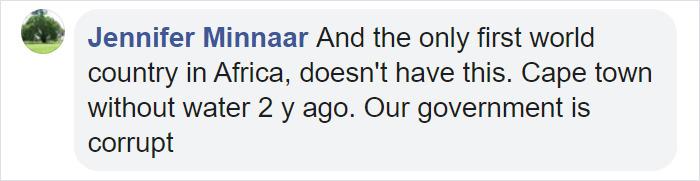Jennifer Minnaar Facebook Comment