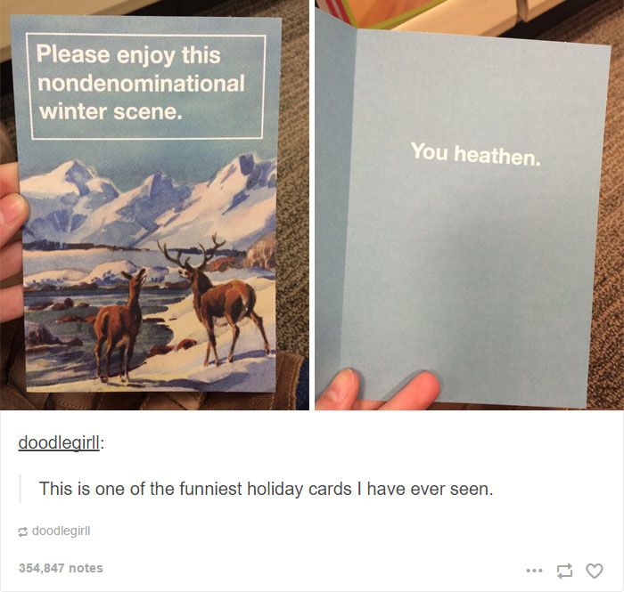 Joke Christmas Card
