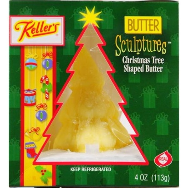 Keller's Creamery Christmas Tree-shaped Butter Sculpture Alternate Packaging Front