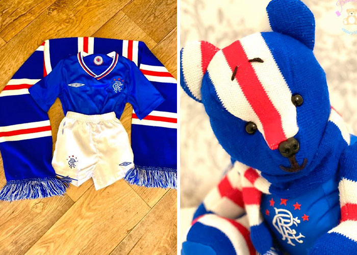 Kid's Varsity Uniform Turned into a Stuffed Teddy