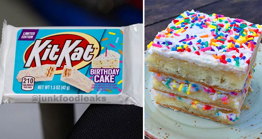 Fabulous Kit Kat Is Releasing A Limited Edition Birthday Cake Flavor Personalised Birthday Cards Paralily Jamesorg