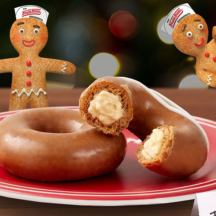 Krispy Kreme Gingerbread Donut with filling