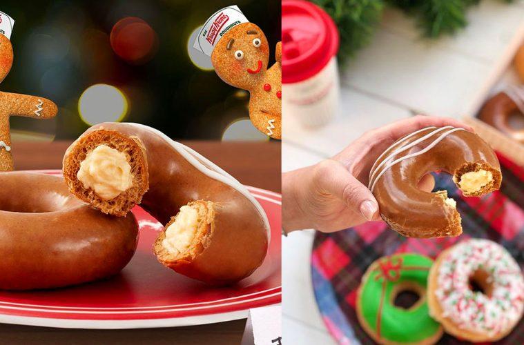 Krispy Kreme Gingerbread donut