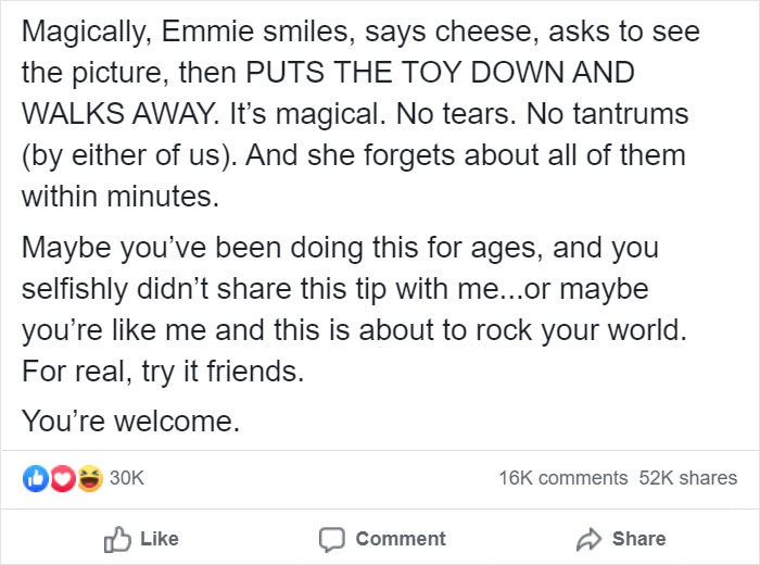 Kristina Watts Christmas Mom Hack Facebook Post 4