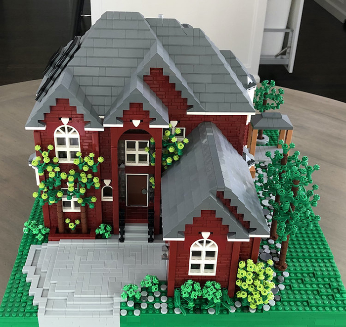 LEGO House Replica Red and Gray Front