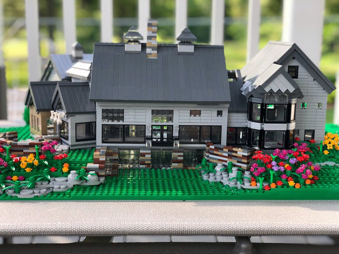 LEGO House Replica White and Gray Front