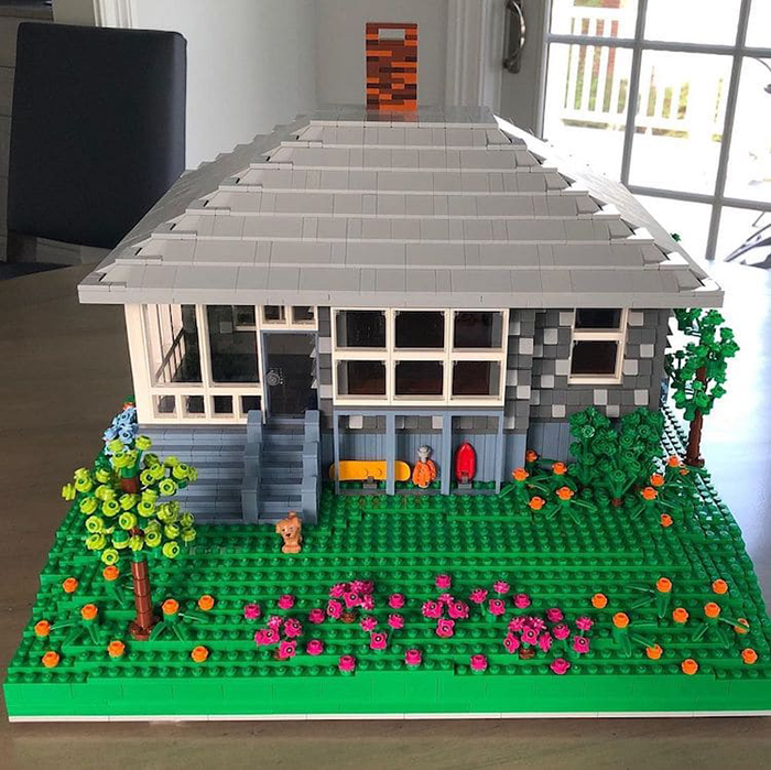 LEGO Scale Model House Gray