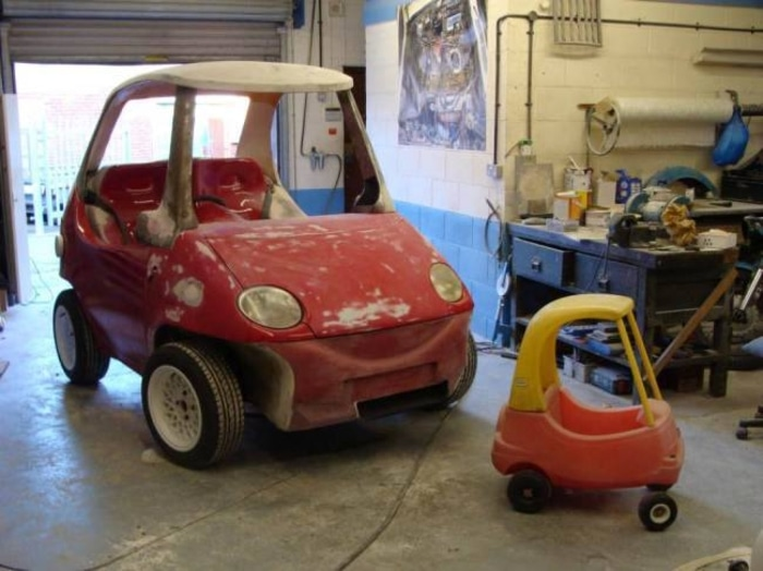 Little Tikes Car for Adults from a Modified Daewoo Matiz