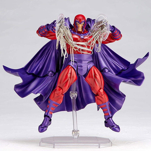 Magneto Paperclip Holder with paperclips attached
