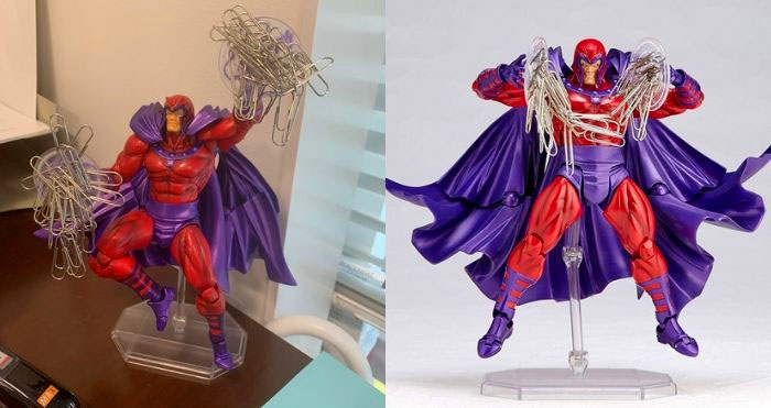 Magneto Paperclip holder