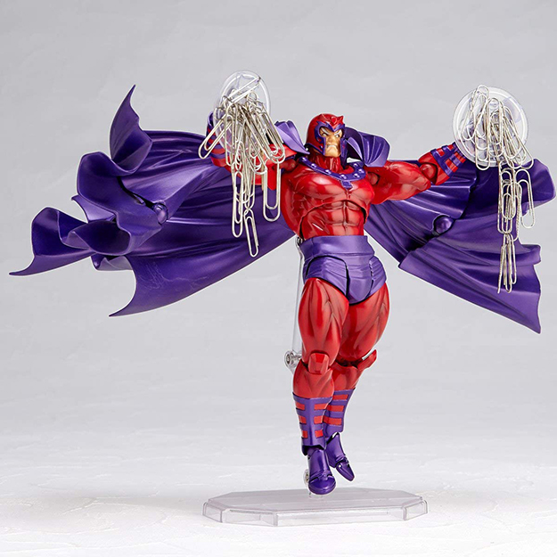 Magneto has paperclips on his discs