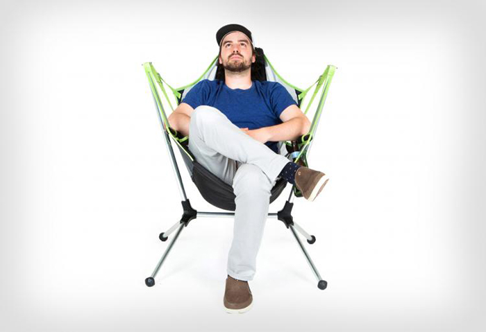 Man Sitting on a Nemo Reclining Camping Chair