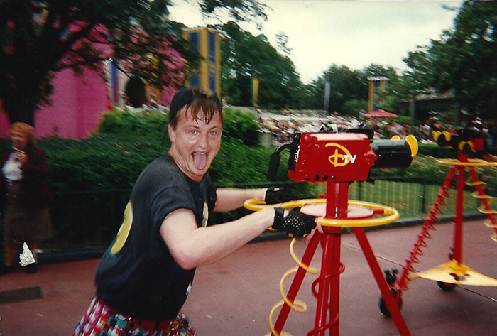 Mikey Jacobs at Work at Walt Disney World Camera