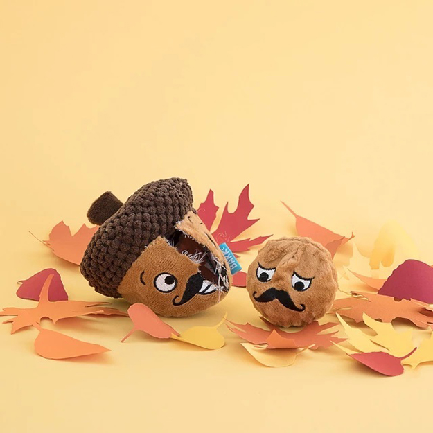 Monsieur Acorn and Seed BarkBox 2 in 1 plush toys