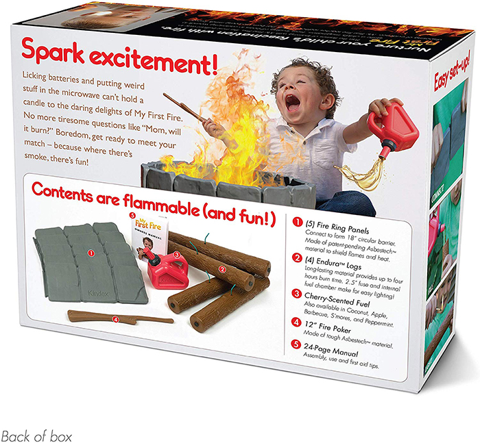 My First Fire Prank Gift Box Back
