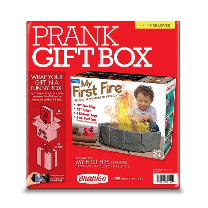 My First Fire Prank Gift Box Packaging