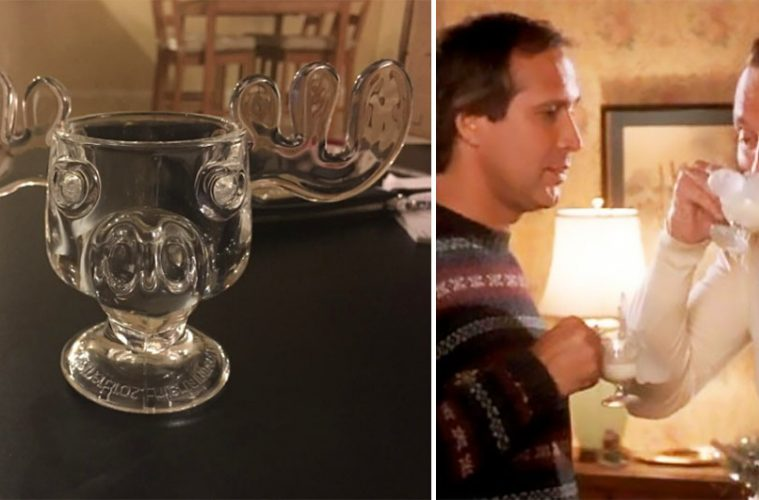 National Lampoon's Christmas Vacation Moose Glass