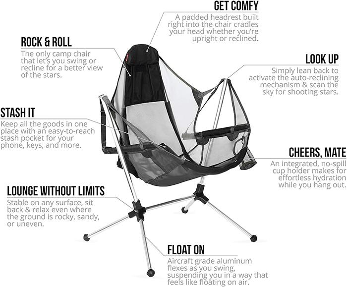 Nemo Stargaze Recliner Luxury Camping Chair Features