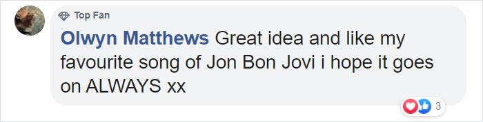 Olwyn Matthews Facebook Comment