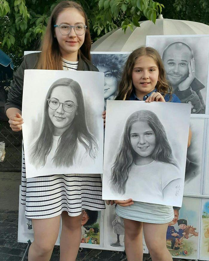 Realistic Portrait of Two Girls by Nikolay Yarakhtin 2