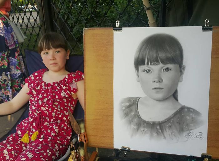 Realistic Portrait of a Girl by Nikolay Yarakhtin 2