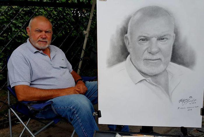 Realistic Portrait of a Man by Nikolay Yarakhtin