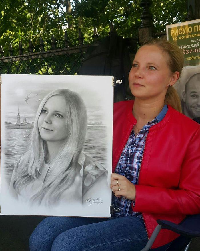 Realistic Portrait of a Woman by Nikolay Yarakhtin 3