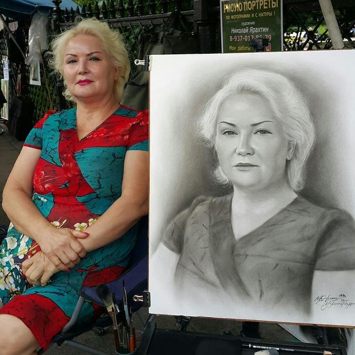 Realistic Portrait of a Woman by Nikolay Yarakhtin 5