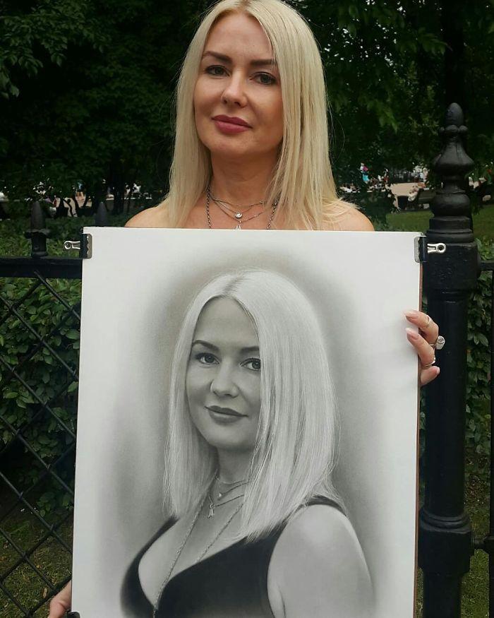 Realistic Portrait of a Woman by Nikolay Yarakhtin